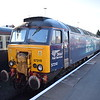 "DRS Class 57 no. 57310 ""Pride of Cumbria"" at Kidderminster Town SVR station with the Northern Belle rolling stock."