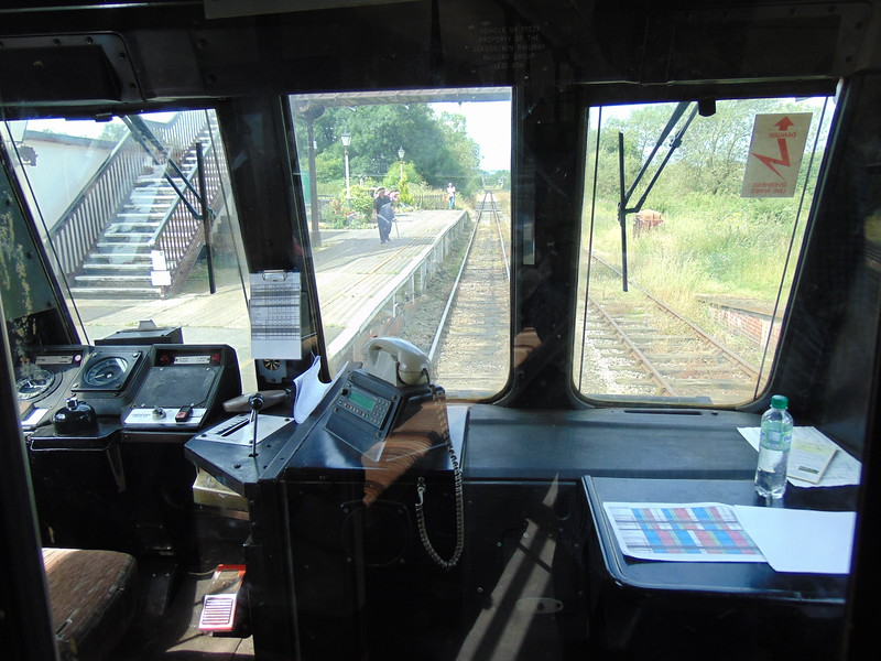 Class 141 Pacer no. 141113 cab interior at Butterley.