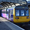 Northern Class 142 Pacer no. 142026 at Newcastle on a Middlesborough sevice.