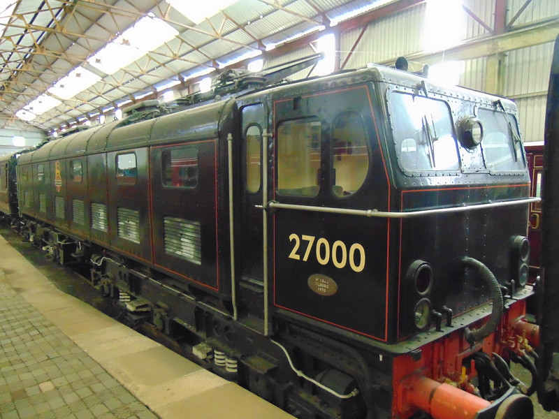 1500V DC Class 77 Woodhead Route electric locomotive no. 27000 (NS 1502) 'Electra' at Swanwick.