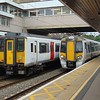 Abellio Greater Anglia Class 379 Electrostar no. 379024 and Class 317 no. 317502 at Harlow Town.