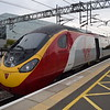 "Virgin Trains Class 390 Pendolino no. 390127 ""Virgin Buccaneer"" at Milton Keynes Central on the 09:53 service to Manchester via Birmingham."