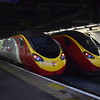 Virgin Trains Class 390 Pendolino no. 390042 and a classmate at London Euston.