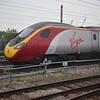 Virgin Trains Class 390 Pendolino no. 390011 stabled north of Preston.