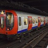 London Underground District Line S7 Stock train no. 21362 at Embankment on a Barking service.
