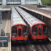 London Underground District Line S7 Stock trains nos. 21565 and 21493 at Upminster.