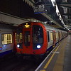 A train of London Underground Circle Line S7 Stock arrives at Edgeware Road.