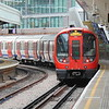 London Underground Hammersmith and City Line S7 Stock unit 21424 leaving Paddington.