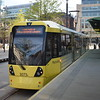Manchester Metrolink Bombardier M5000 tram no. 3073 at St. Peters Square on a Rochdale service.