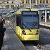 Manchester Metrolink Bombardier M5000 tram no. 3023 at Victoria on a Bury service.