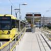 Manchester Metrolink Bombardier M5000 tram no. 3070 at Ashton-Under-Lyne on an Eccles service.