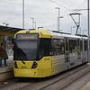 Manchester Metrolink Bombardier Flexity M5000 tram no. 3079 at Wythenshawe town centre on a Cornbrook service.