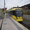 Manchester Metrolink Bombardier Flexity M5000 tram no. 3107 at St Werburghs Road on a Cornbrook service.