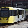 Manchester Metrolink Bombardier M5000 tram no. 3087 leaving Victoria on a Rochdale service.