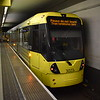 Manchester Metrolink Bombardier M5000 tram no. 3023 at Piccadilly on a terminating service.