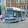 Nottingham Express Transit Bombardier Incentro tram no. 207 at Market Square on a Clifton service.