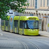 Nottingham Express Transit Bombardier Incentro tram no. 209 'Sid Standard' at Trent University.