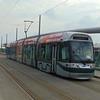 Nottingham Express Transit Bombardier Incentro tram no. 207 'Mavis Worthington' at the Station.