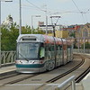 Nottingham Express Transit Bombardier Incentro tram no. 207 passing the former Station Street stop.