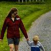 Kate and Anders walking