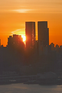 New York Sunrise-Time Warner Towers