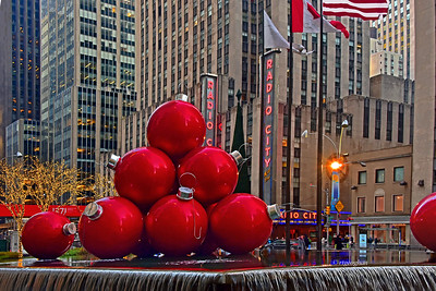 Red Ball Ornaments NYC