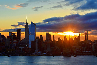NYC  Sunrise in Blue