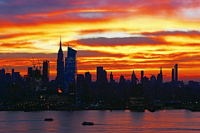 NYC Sunrise Day One of Winter