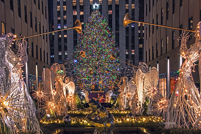 Rockefeller Center Christmas Tree Scene