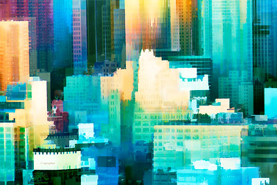 Painted City Abstract