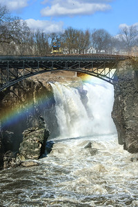 NJ Great Falls Winter Rainbow