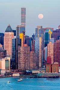 NY Midtown Sundown-Moonrise