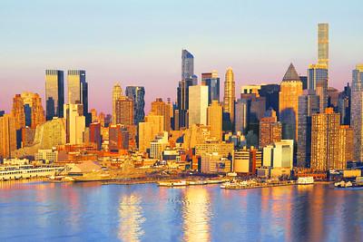 Manhattan West Side Sundown