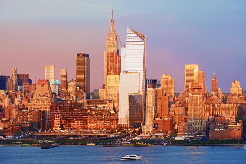 Manhattan Skyline Sundown