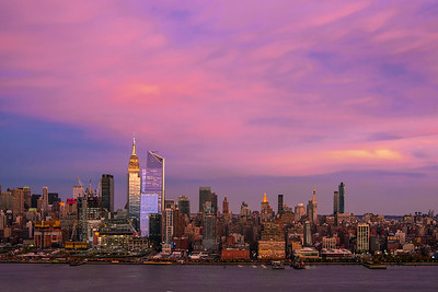 NY Skyline Sundown Color
