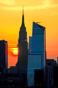 NYC Empire State Building Sunrise