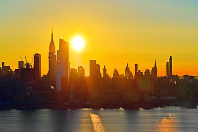 NYC Sunrise Light and Shadows