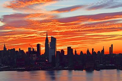 Manhattan Skyline Dawn