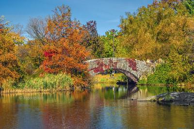 NYC Gapstow Bridge Autumn Colors
