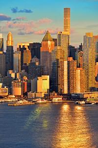 NYC Skyscrapers at Sundown