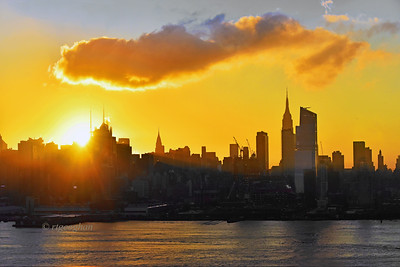 NYC Sunrise Gold