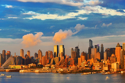 Manhattan Sundown Blue and Gold