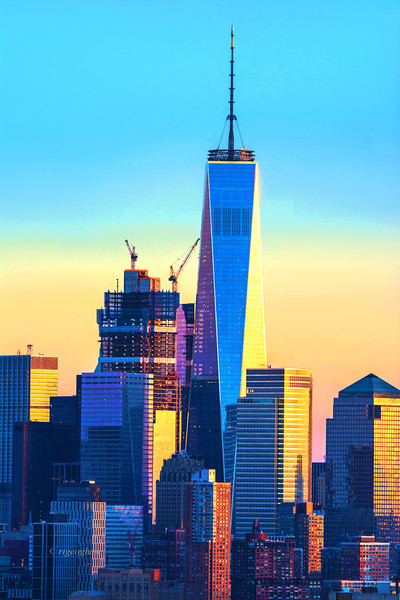 NYC Trade Center Sundown