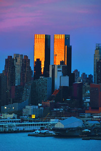 NYC Sundown and Twilight Blue