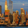NYC Sundown Moonrise