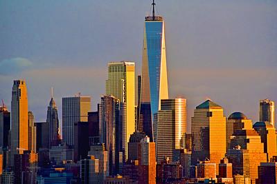 Lower Manhattan Dundown Gold and Blue