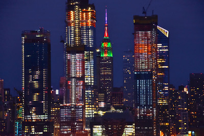 NYC Skyline and Empire State Christmas