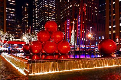 NYC Christmas Balls Red