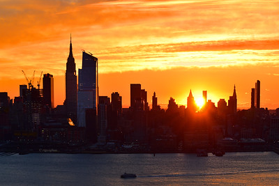 NYC Sunrise-Tangerine Sky