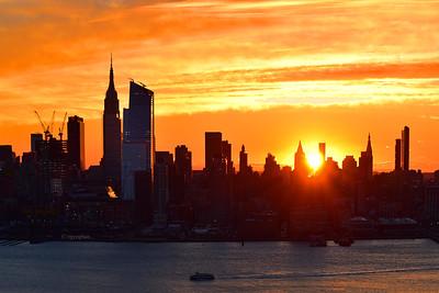 NYC Sunrise-Tangerine Sky